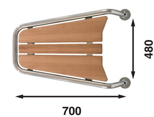 Båtsystem Motorbåtsp.uten ankerrulle mp 75, 700 mm