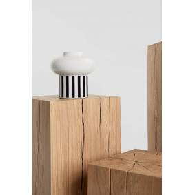 Gina Tricot Gina striped Vase ONESIZE Female White/black