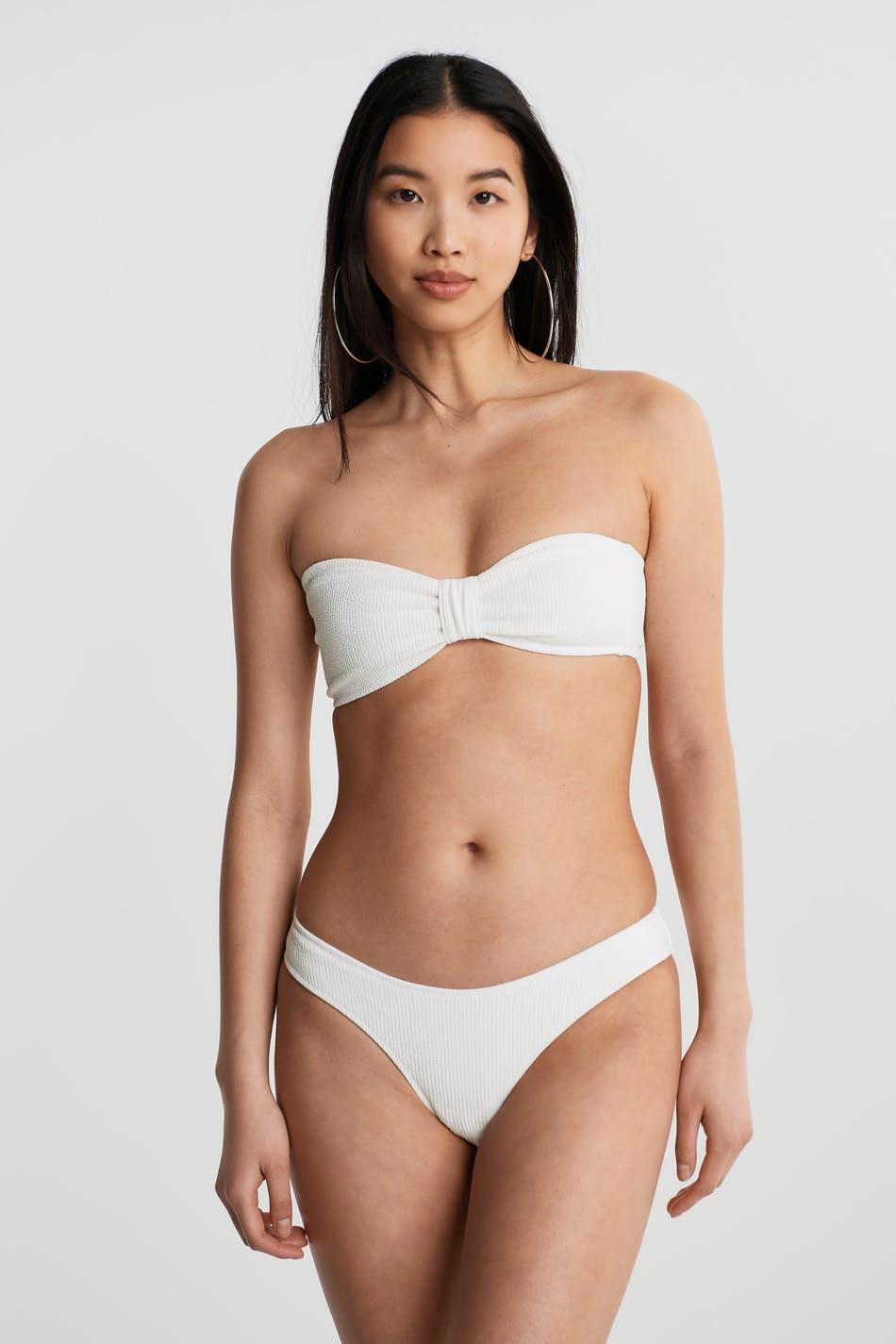 Gina Tricot Donna bikini bandeau S Female Offwhite