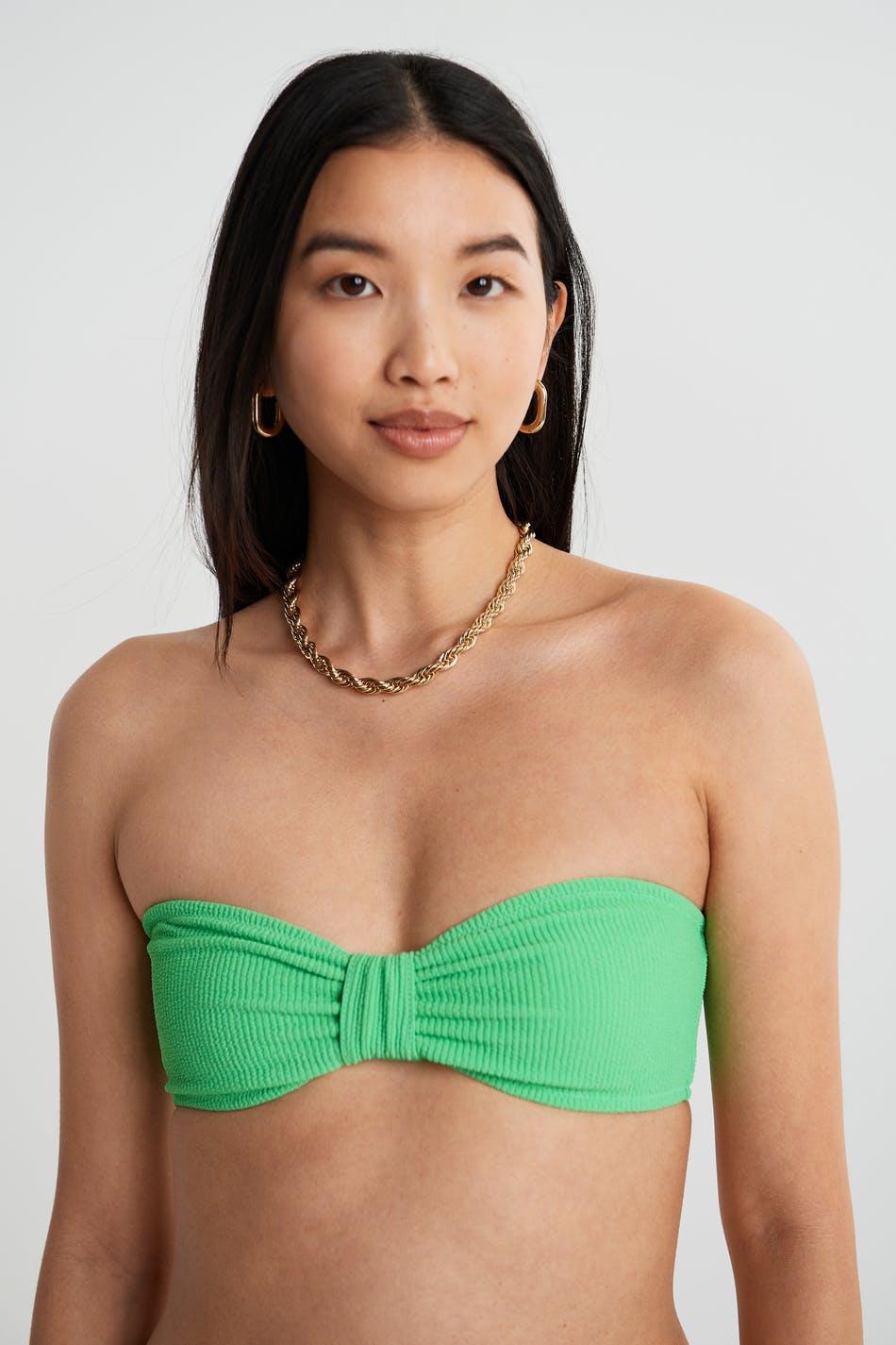 Gina Tricot Donna bikini bandeau XS Female Spring boquet