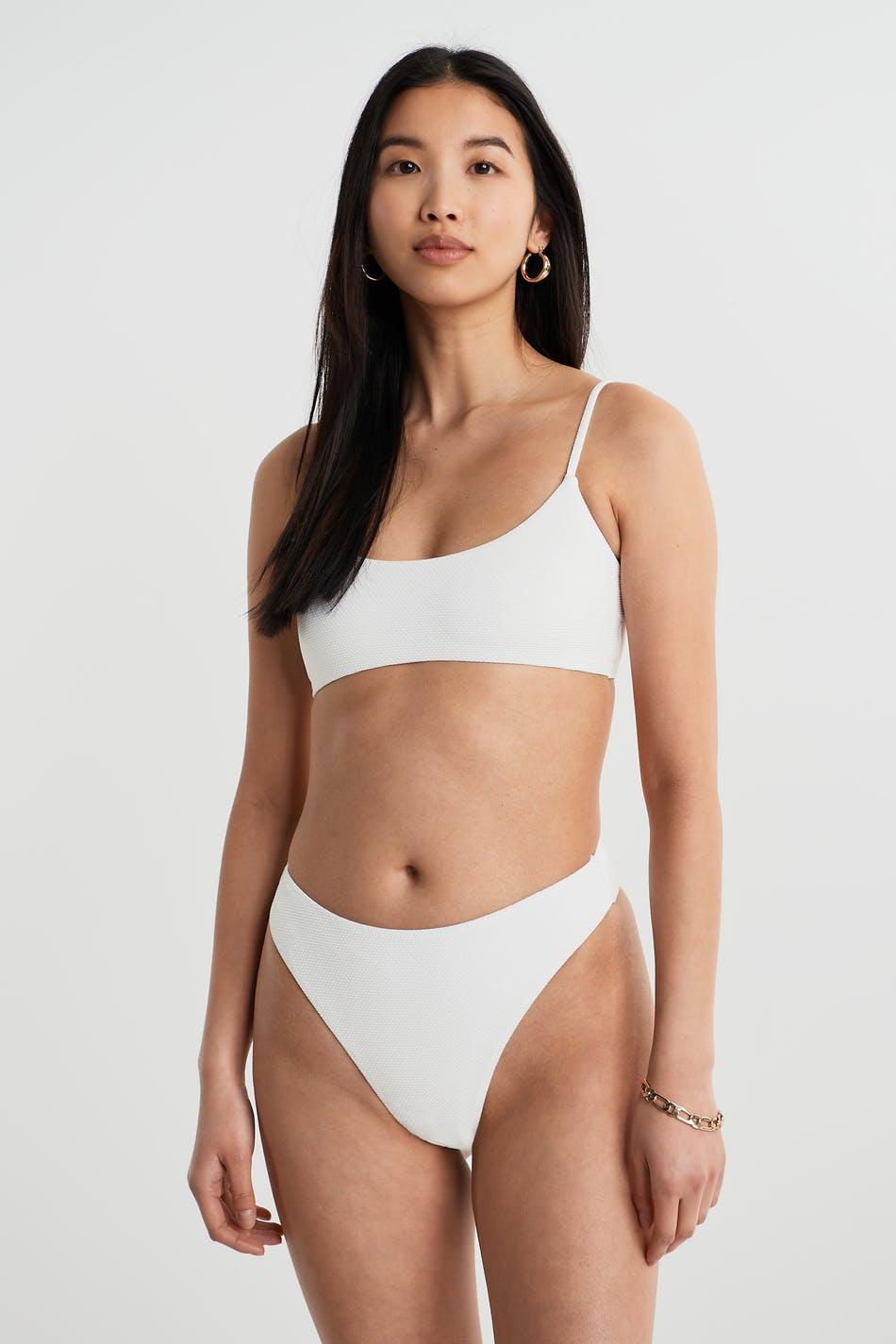Gina Tricot Kim high waist bikini brief L Female Offwhite