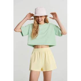 Gina Tricot Ava towelling shorts M Female Transpe/yellow (2032)
