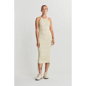 Gina Tricot Nicki drawstring dress L Female Bone white (1181)