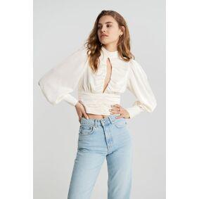 Gina Tricot Olivia blouse 32 Female Egret (1144)