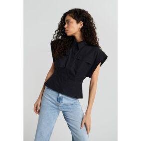 Gina Tricot Nadja shirt M Female Black (9000)