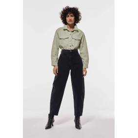 Gina Tricot Trucker denim jacket L Female Green lily (6029)