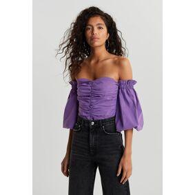 Gina Tricot Odette off shoulder blouse 46 Female Purple