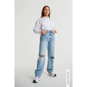 Gina Tricot 90s high waist jeans 32 Female 90s blue dest (5041)