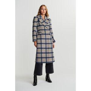 Gina Tricot Ace wool blend coat 44 Female Check (9040)