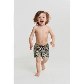 Gina Tricot Mini swim shorts 110/116 Female Yellow spot/leo (2221)