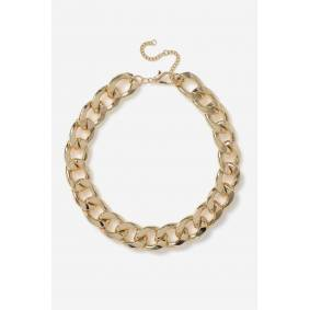 Gina Tricot GOLD CHUNKY CURB CHAIN NECKLACE short Female Gold