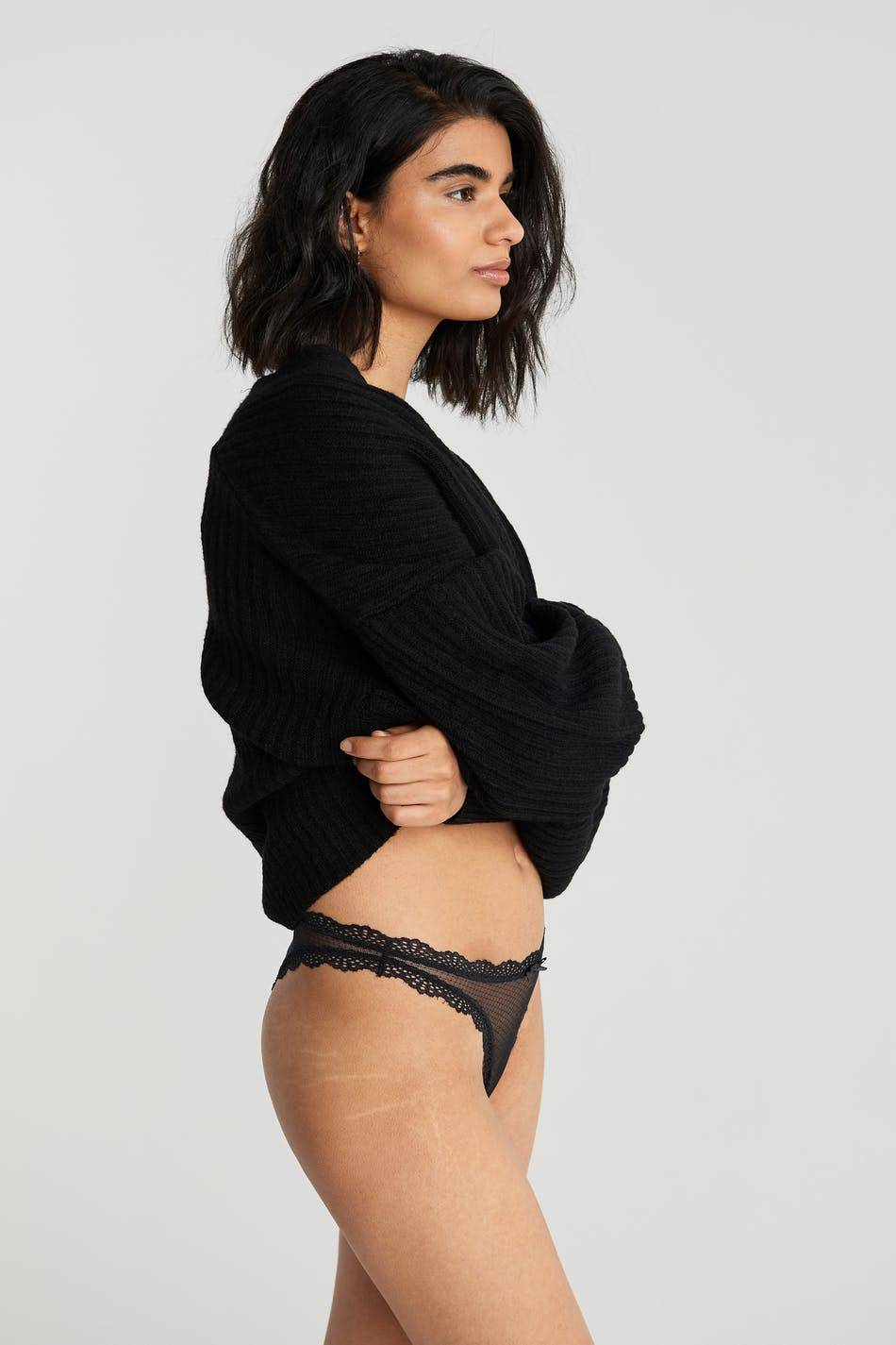Gina Tricot Frida lace brazilian XL Female Black (9000)