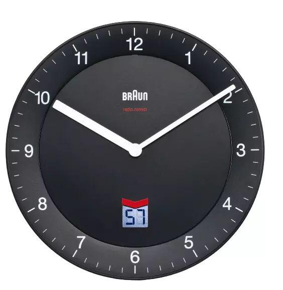 Braun BNC 006 Wall Clock black
