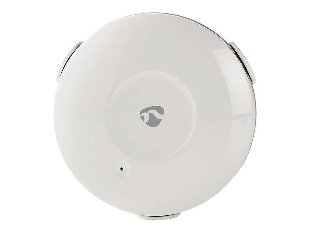 NEDIS WiFi Smart Water Leak Detector - Vannlekkasje sensor - trådløs - Wi-Fi - 2400 - 2483.5 Mhz - hvit
