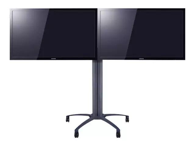 """MULTIBRACKETS M Public Display Stand 145 Dual - Stativ for 2 LCD-skjermer - aluminium - svart - skjermstørrelse: 40""""-52"""" - monteringsgrensesnitt: 800"""
