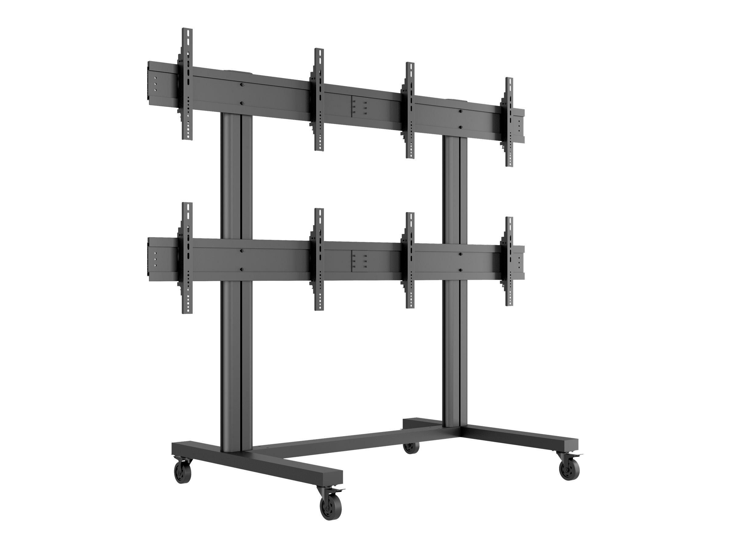 """MULTIBRACKETS M Public Video Wall Stand 4-Screens - Stativ for 4 LCD-skjermer - aluminium - svart - skjermstørrelse: 40""""-55"""" - monteringsgrensesnitt:"""