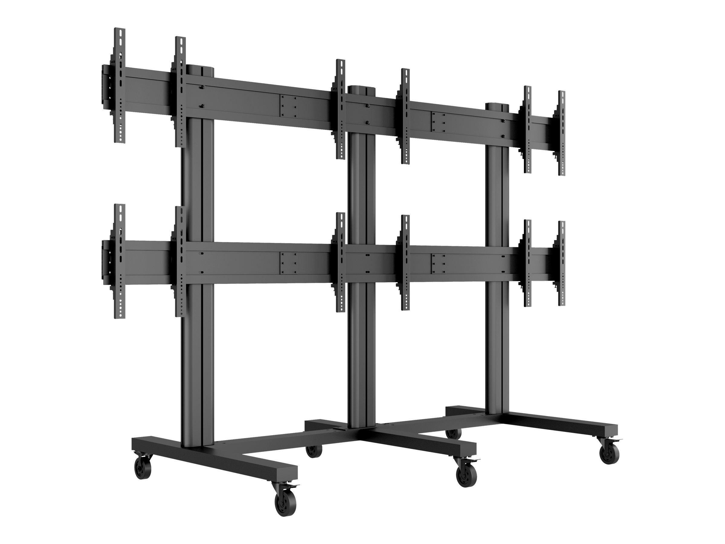 """MULTIBRACKETS M Public Video Wall Stand 6-Screens - Stativ for 6 LCD-skjermer - aluminium - svart - skjermstørrelse: 40""""-55"""" - monteringsgrensesnitt:"""
