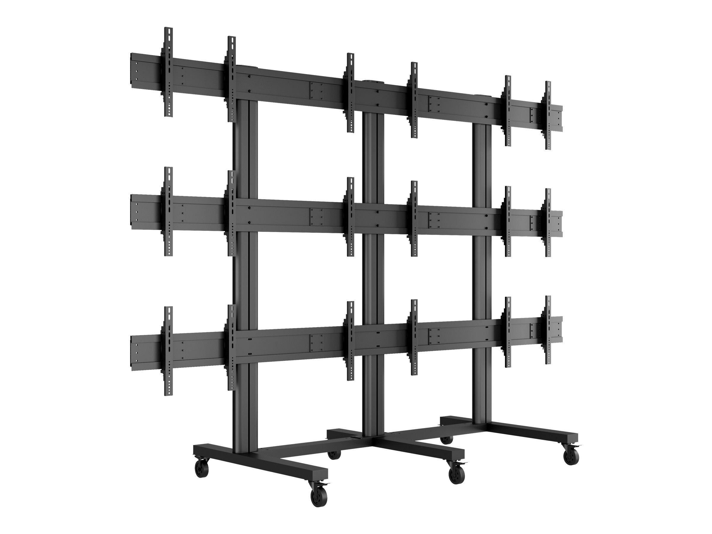 """MULTIBRACKETS M Public Video Wall Stand 9-Screens - Stativ for 9 LCD-displayer - aluminium - svart - skjermstørrelse: 40""""-55"""" - monteringsgrensesnitt:"""