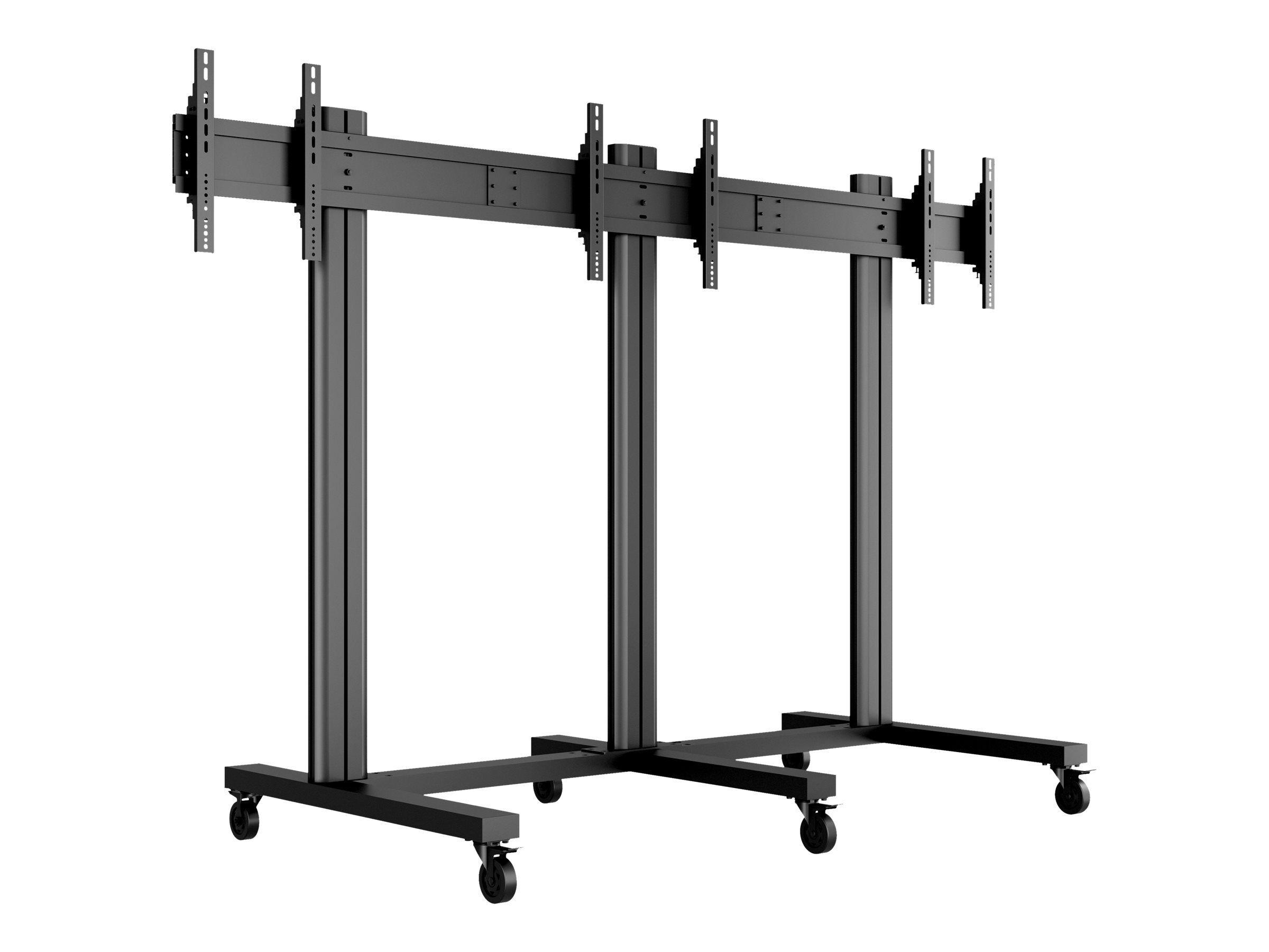 """MULTIBRACKETS M Public Video Wall Stand 3-Screens - Stativ for 3 LCD-skjermer - aluminium - svart - skjermstørrelse: 40""""-55"""" - monteringsgrensesnitt:"""