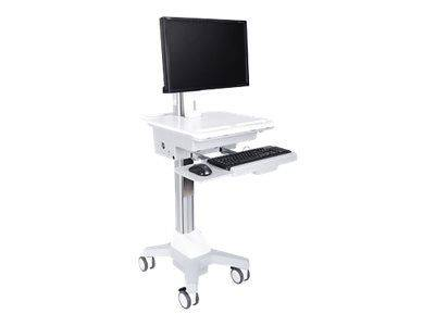 MULTIBRACKETS M Universal Workstation Cart DT - Vogn for LCD-skjerm / tastatur / mus / CPU / notebook / strekkodeskanner - plastikk, silikon, stål -