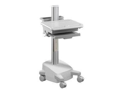 MULTIBRACKETS M Universal Workstation Cart NB / UPS - Vogn for notebook / tastatur / mus / strekkodeskanner / CPU - plastikk, silikon, stål - hvit,