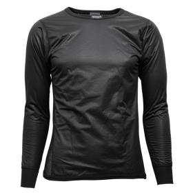 Brynje Shirt w/windcover front /front sleeves herre Svart S 2018