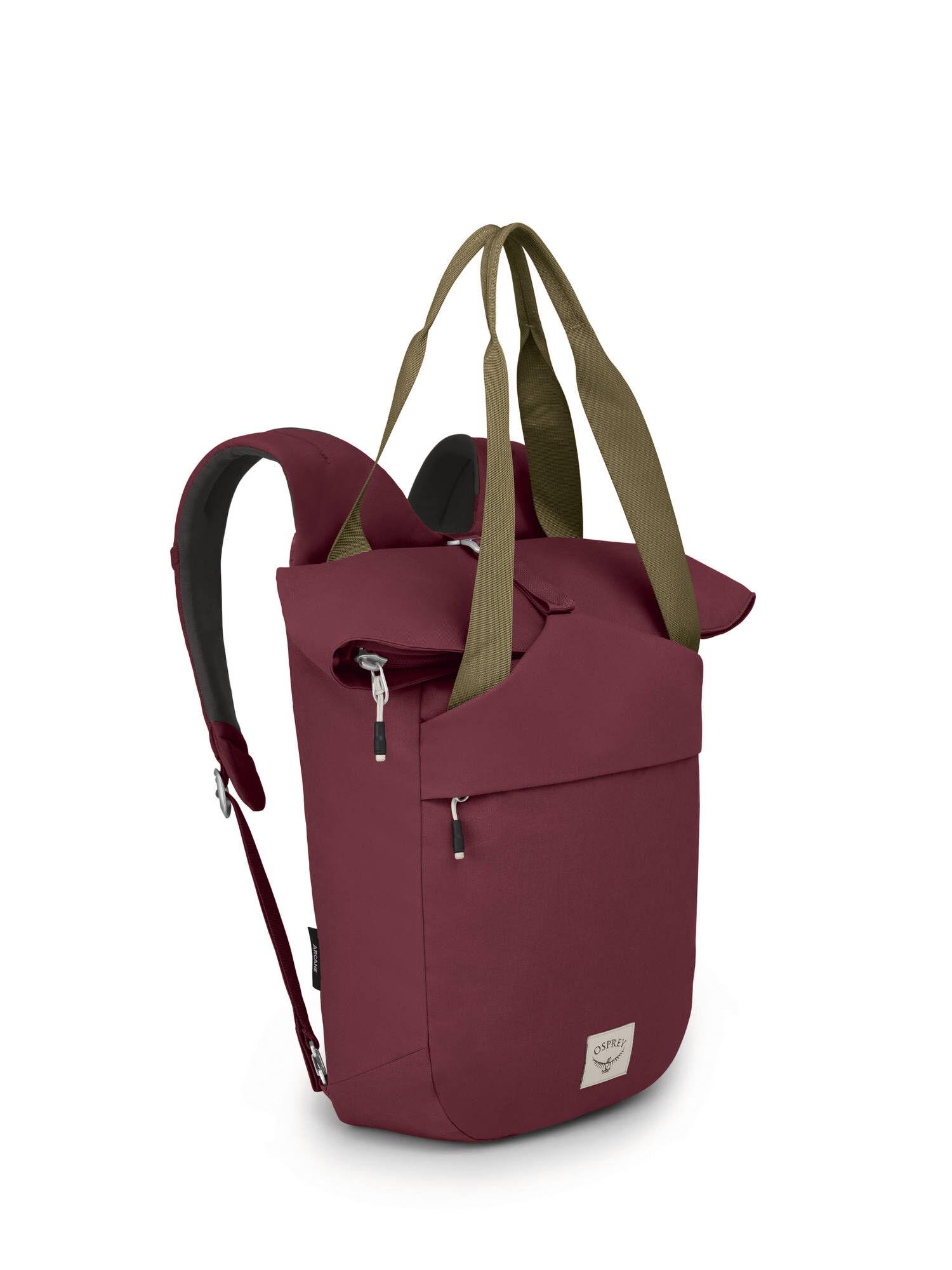 Osprey Arcane Tote Pack ryggsekk / håndveske Mud Red: 10002398 2020