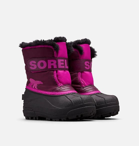 Sorel Childrens Snow Commander vintersko barn 562 Purple Dahlia, Groovy Pink 23 2019