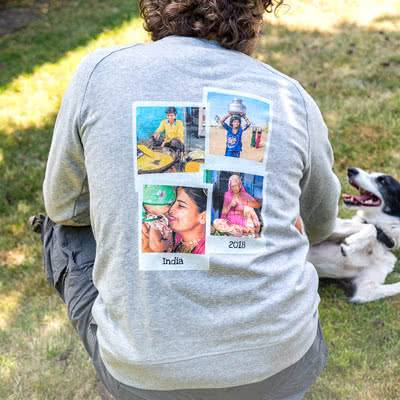 smartphoto Genser barn Naturhvit 9 - 11 år