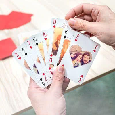 smartphoto Kortspill med personlig bakside tekst