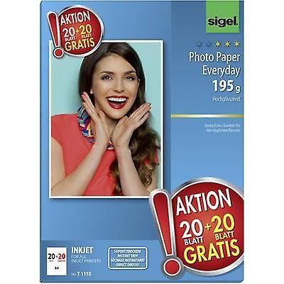 Sigel fotopapir hverdags HOT DEAL T1155 fotopapir a4 195 GM ² 40 ar...