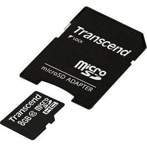Transcend Overskride Premium microSDHC kort 8 GB klasse 10 inkl SD kortet
