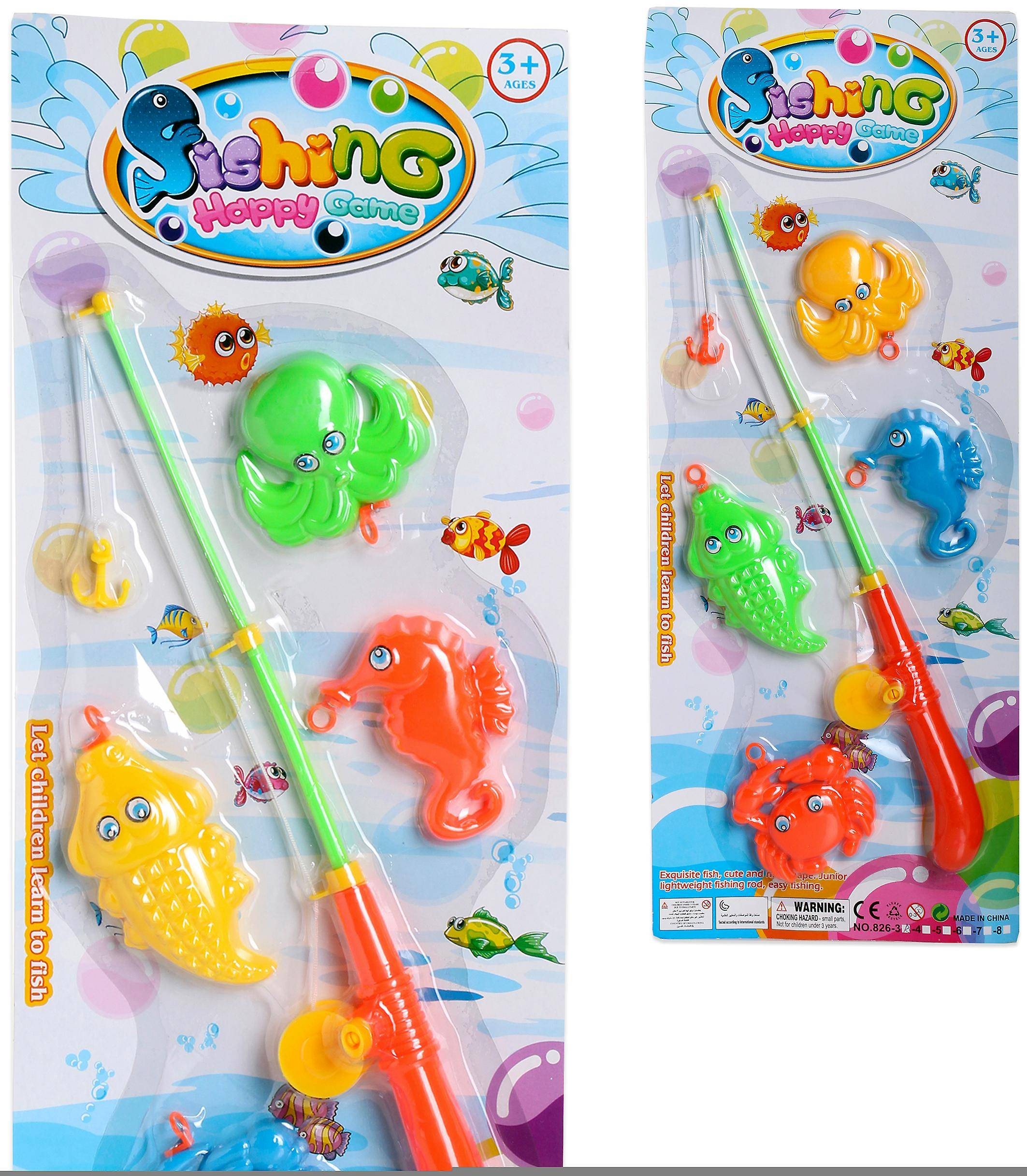 Import Fishing Game 4 Fishes Blister 53X22 (Babies and Children , T...