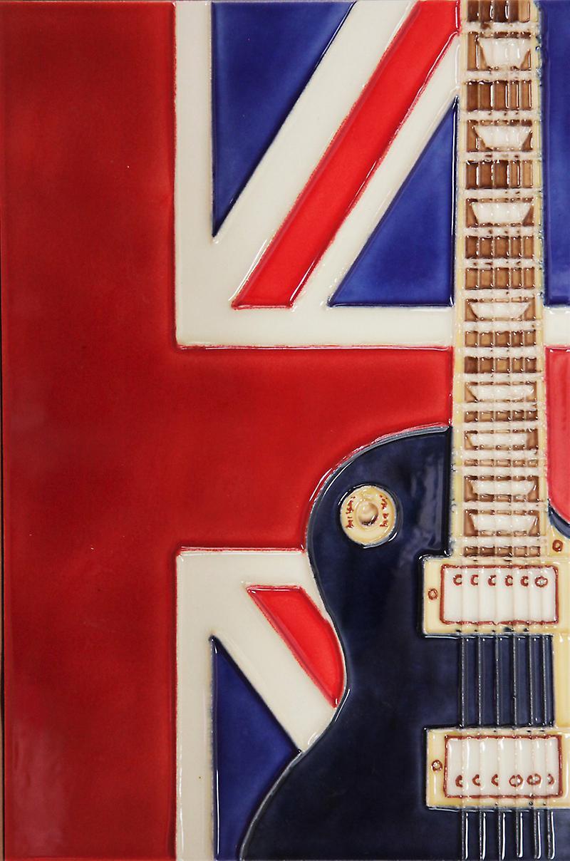 YH Arts Ceramic Wall Art, UK Music 8 x 12