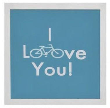 Wellindal for trykt med meldingen jeg elsker deg 34 x 34 x 1, 9 cm