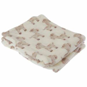 Universal Textiles Baby Cupcake/Giraffe Design gutt/jente myk Pram teppe Krem/Giraffe 73cm x 100cm