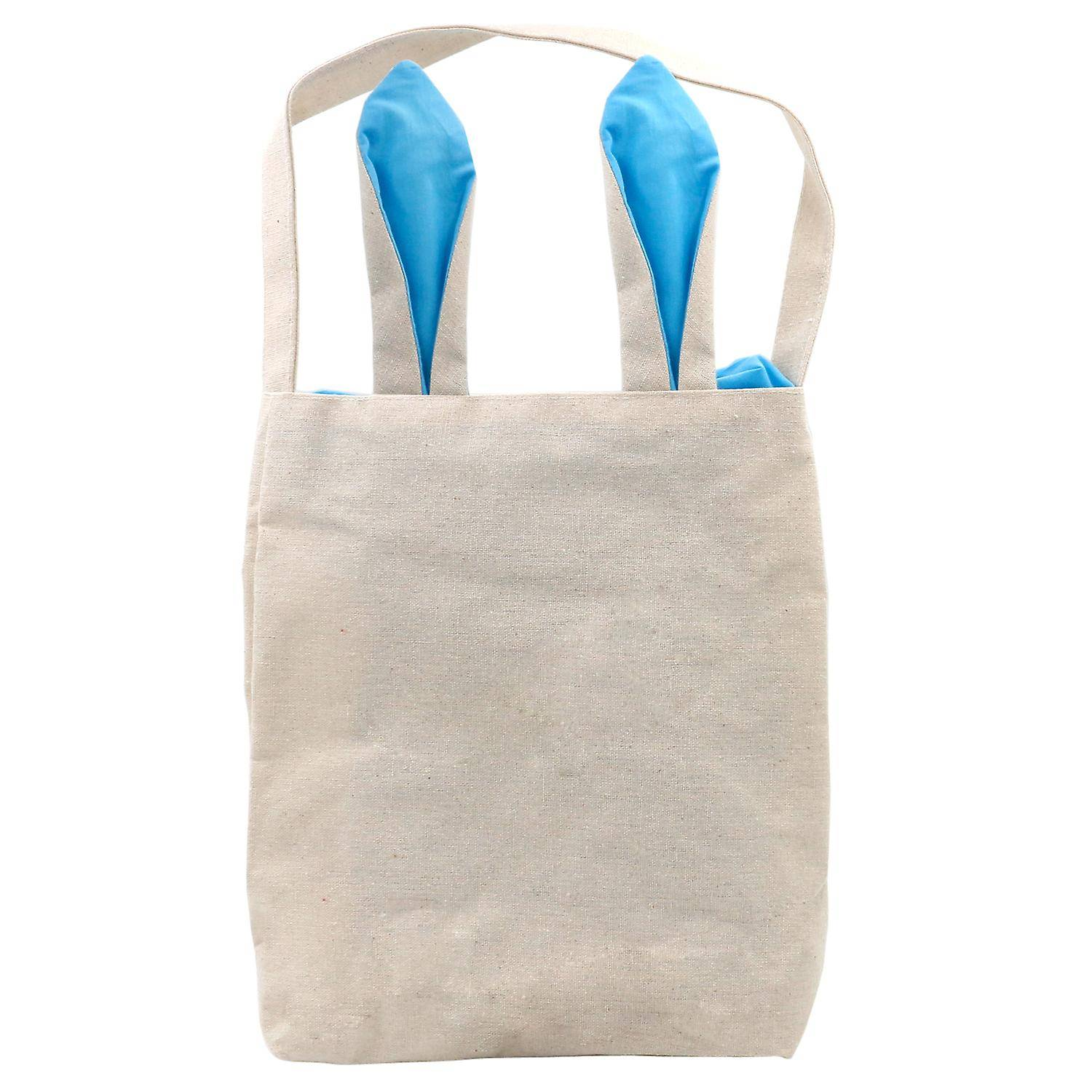 TRIXES Easter Blue Bunny Ears Canvas Carry Bag Party Rabbit Fun Acc...