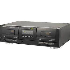 Renkforce Kassettspiller Renkforce TP-1010USB Black Twin kassettspiller, USBfor digitalisering