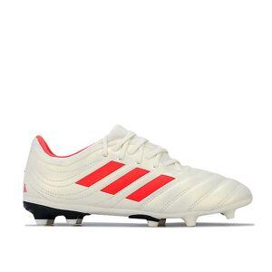 Adidas Boy's adidas Junior Copa 19.3 FG Fotball støvler i Hvitt Hvit UK 5.5