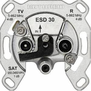 Kathrein ESD 30 antenne socket SAT, TV, FM Flush mount