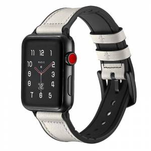 eStore Apple Watch-armbånd + skall Hvit 38