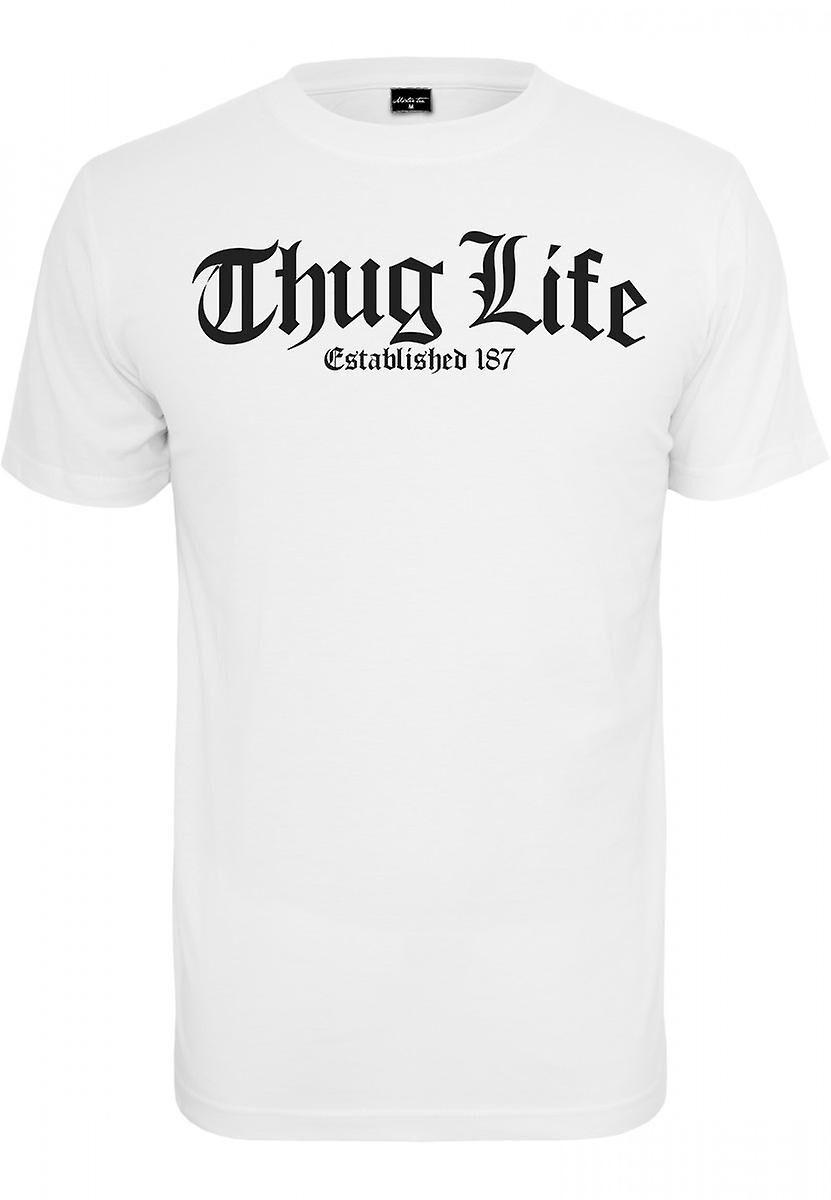 Urban Classics Urban klassikere T-Shirt Thug Life gammel engelsk