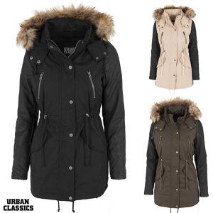 1f180e59 Dameklær Urban Classics Urban klassikere damene skinn imitasjon ermet parka