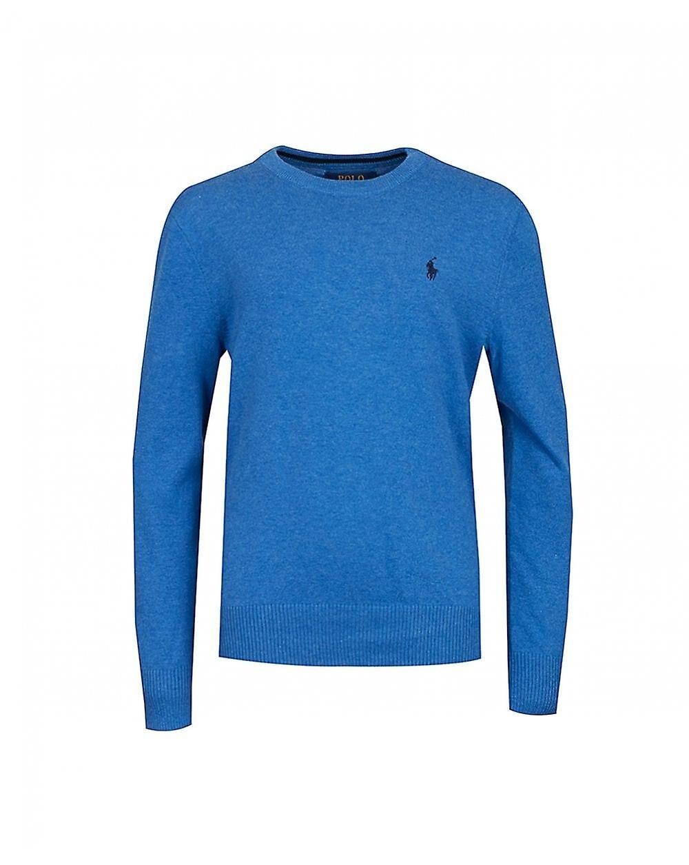 Polo Ralph Lauren Childrenswear Polo Ralph Lauren butikker Pima bomull logo Crew hals strikk Blå Age 8