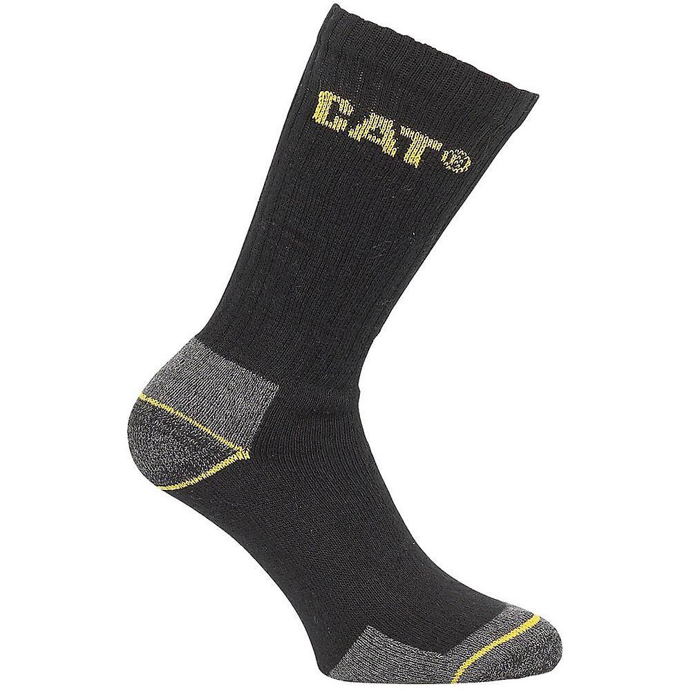 CAT Workwear Mens Workwear mannskapet 3 par pakke Workwear sokker