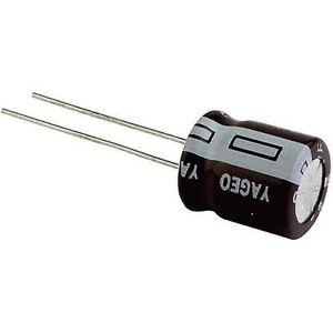 Yageo S5025M0010B1F-0405 elektrolytisk kondensator Radial føre 1,5 mm 10 µF 25 V 20% (Ø x H) 4 x 5 mm 1 eller flere PCer
