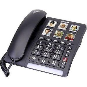 Switel TF 540 kablet stor knapp kamera knapp, visuell samtalevarsling, håndfri ingen skjerm svart