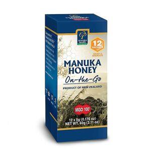 Manuka Health Manuka Helse MGO 100+ Pure Manuka Honning Snap Pack 5g - Pakke med 12 (MAN025)