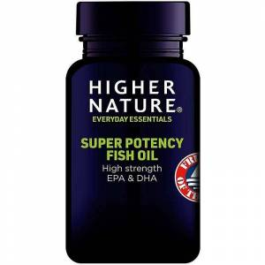 Higher Nature Høyere natur Super Potency fiskeolje kapsler 90 (FISH090)