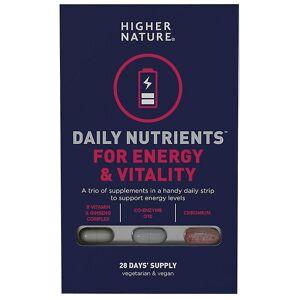 Higher Nature Høyere natur daglige næringsstoffer for energi og vitalitet Caps 28 (DNEV028)